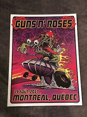 Guns N Roses Lithograph Not In This Lifetime Montreal Canada 8/19/17 #251/300  • 36.57£