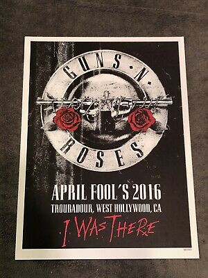 Guns N Roses Lithograph Not In This Lifetime Hollywood, CA 4/1/16 #283/400  • 36.57£
