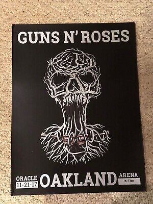 Guns N Roses Lithograph Not In This Lifetime Oakland, CA 11/21/17 #151/300  • 36.57£