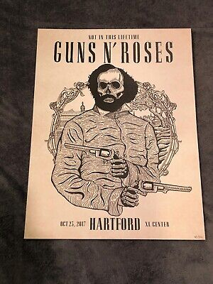 Guns N Roses Lithograph Not In This Lifetime Hartford, CT #41/300 10/23/17 • 36.57£
