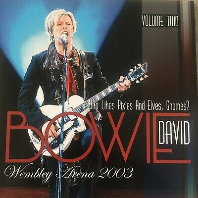 David Bowie Who Likes Pixies And Elves,Gnomes? Wembley 2003 2 Rare Live Vinyl • 70£