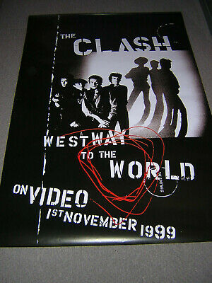 Original Very Large Clash Promotional Poster - Westway To The World • 19.95£