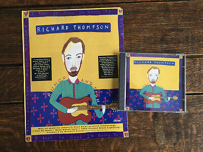 RICHARD THOMPSON - RUMOR AND SIGH 1991 TOUR PROGRAMME + CD + Inserts • 25£