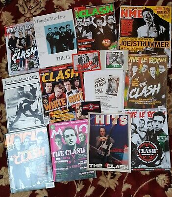 The Clash Book, Rarities, Merchandise, Vinyl, Promo, Magazine, Sheet Music, Punk • 35£