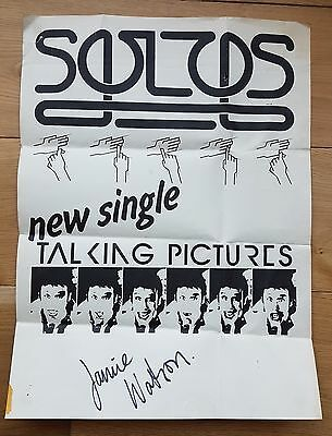 Solos - Talking Pictures Poster 1980 Autographed By Jamie Watson • 15£