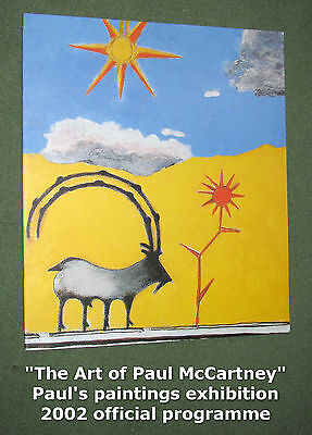 PAUL McCARTNEY Liverpool Paintings Official PROGRAMME 2002 3 III EGYPT STATION • 24.99£