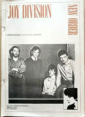 Joy Division/New Order - A History In Cuttings. 1985 Book Of Press Cuttings Etc. • 150£