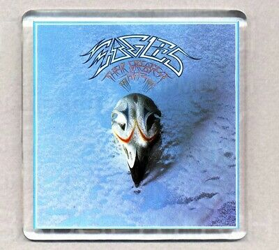 EAGLES THEIR GREATEST HITS ALBUM FRIDGE MAGNET 08 Acrylic 2.6inch (64mm) Square • 1.25£