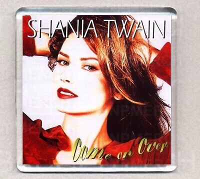 SHANIA TWAIN COME ON OVER FRIDGE MAGNET 08 Acrylic 2.6inch (64mm) Square • 1.25£