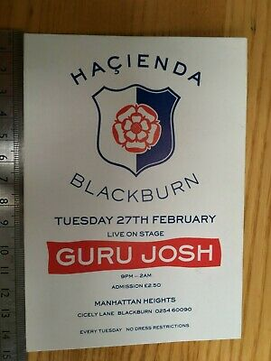 Hacienda Blackburn Flyer – Manhattan Heights 27 Feb 1990 – Guru Josh • 7.99£