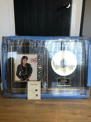 Michael Jackson Signed Bad Album Coa Rare • 615£
