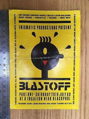 Blast Off Rave Flyer – Blackpool 29 July 1989 – Paul Anderson, Kid Batchelor • 7.99£