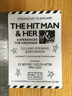Hacienda Hitman & Her Flyer – 18 January 1989 – Mike Pickering, Jon DaSilva • 7.99£