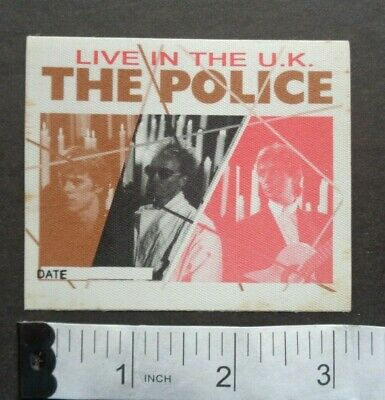 POLICE Band, Rare Cloth BACKSTAGE PASS,Live In The U.K. • 7.12£