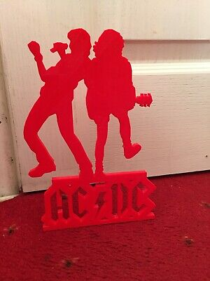 Acdc Brian Johnson Angus Young Thick Plastic Statue 3d Printer Made Xmas Gift • 40£