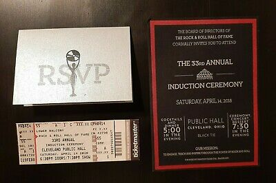33rd Rock & Roll HOF Induction Invitation, Ticket And Reply Card 2018 – Bon Jovi • 21.45£