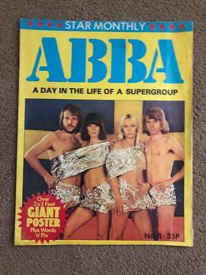 Rare UK Poster Magazine, 'ABBA A Day In The Life Of A Supergroup', 1977. • 30£