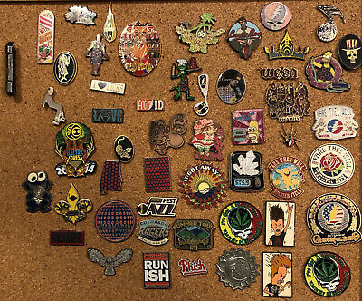 Greatful Dead Phish Bassnectar STS9 Ween SCI Widespread Panic 52 Hat Pin Lot • 214.57£
