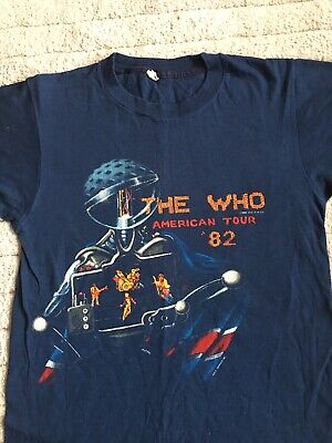 Original THE WHO Tour T-shirt From 1982 American Tour  (worn) • 39£