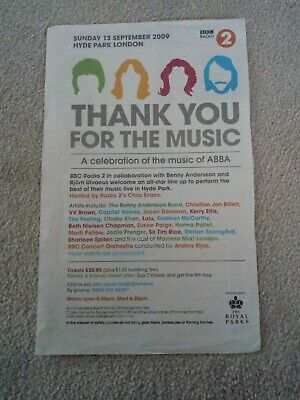 Abba Thank You For The Music Newspaper Concert Ad • 2.99£
