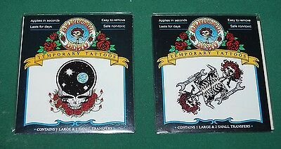 GRATEFUL DEAD Temporary Tattoos 1993 Sealed New NOS • 7.04£