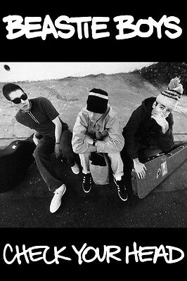 MUSIC ROCK RAP GROUP BEASTIE BOYS CHECK YOUR HEAD POSTER NEW 24x36 FREE SHIPPING • 8.50£