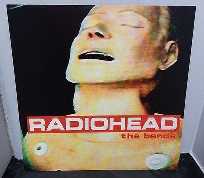 Radiohead The Bends In Store Promo Mini Poster 2 Sided Flat 12x12 High & Dry • 22.22£
