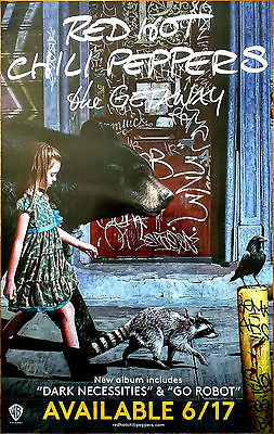 RED HOT CHILI PEPPERS The Getaway Ltd Ed RARE Tour Poster +FREE Rock Poster RHCP • 42.55£