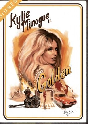 Kylie Minogue Golden Litho Signed Limited Edition • 250£