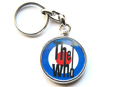 THE WHO Classic Rock Band Chrome Keyring Picture Both Sides • 5.49£