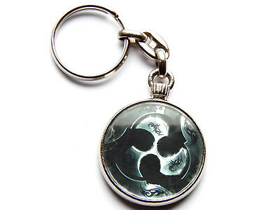 TRIVIUM Heavy Metal Band Chrome Keyring Picture Both Sides • 5.49£