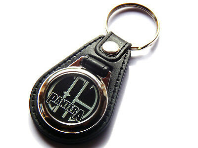 PANTERA Heavy Metal Band Quality Leather And Chrome Keyring • 5.99£