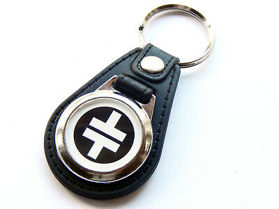 TAKE THAT White Design Boy Band Pop Group Quality Leather And Chrome Keyring • 5.99£