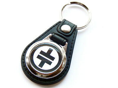 TAKE THAT Black Design Boy Band Pop Group Quality Leather And Chrome Keyring • 5.99£