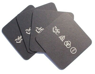 Lot Of 4 New 2015 Led Zeppelin Edition PROMO Cup Drink Coaster - Rare • 5.55£
