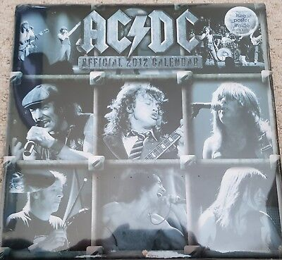 Ac/dc 2012 Official Calendar + Poster New And Sealed  • 4.25£