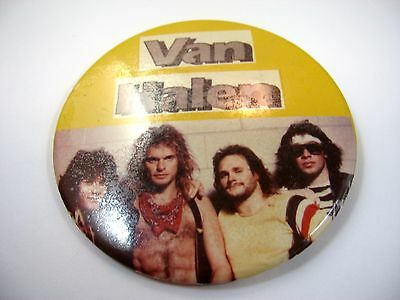 Vintage Collectible Pin Button: VAN HALEN (Large Size) • 42.86£