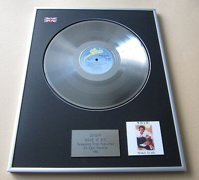 WHAM / GEORGE MICHAEL Make It Big PLATINUM PRESENTATION DISC • 109£