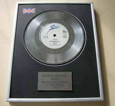GEORGE MICHAEL Faith PLATINUM PRESENTATION DISC • 59£