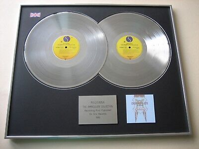 MADONNA The Immaculate Collection DOUBLE LP PLATINUM PRESENTATION DISC • 130£