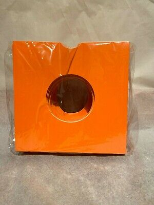 Pack Of 50 X Orange 7 Inch LP Record Album Card Sleeves/Covers High Quality  • 10.99£