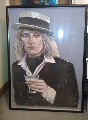 Rod Stewart Unique Original Hand Painted Picture/back Drop From Concert 1976 • 1,350£