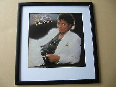MICHAEL JACKSON Thriller - Bad - Off The Wall FRAMED ALBUM COVER • 45£