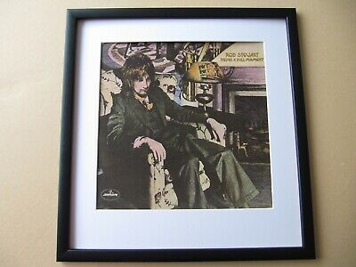 ROD STEWART Atlantic Crossing TIME Blondes Have More Fun FRAMED ALBUM COVER • 45£