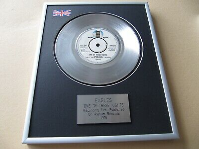 EAGLES One Of These Nights PLATINUM PRESENTATION DISC • 65£