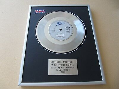 GEORGE MICHAEL A Different Corner PLATINUM PRESENTATION DISC • 65£