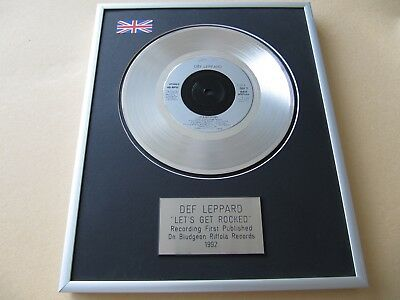 DEF LEPPARD Let's Get Rocked PLATINUM PRESENTATION DISC • 59£