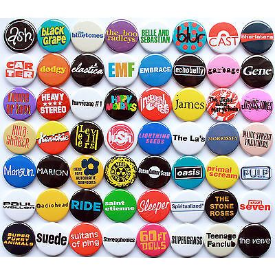 80's 90's Indie / Britpop Band Collection - 56 Quality Button Badges • 28£