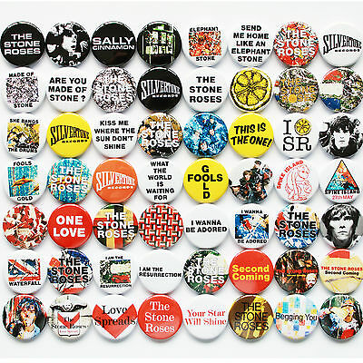 The Stone Roses 1987-1995 Badge Set - 56 Quality Button Badges (Ian Brown) • 28£