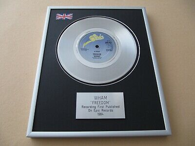 WHAM GEORGE MICHAEL Freedom PLATINUM PRESENTATION DISC • 59£